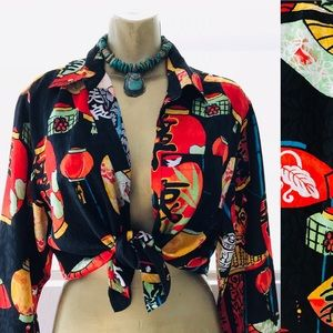 ADDITIONS by CHICO'S Chinese LANTERN Blouse Plus 2